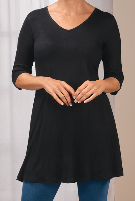 Black Tunic Top - View 1