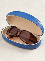 Eyewear - Indigo Blue Hinged Eyeglass Case