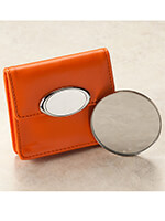 Handbags & Belts - Orange Case with Mirror