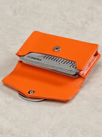 Handbags & Belts - Orange Credit Card Case