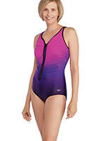 Fitness Swimwear - Speedo® Plunge Zip Ombre Suit