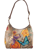Handbags & Belts - Anna by Anuschka™ Handpainted Large Hobo