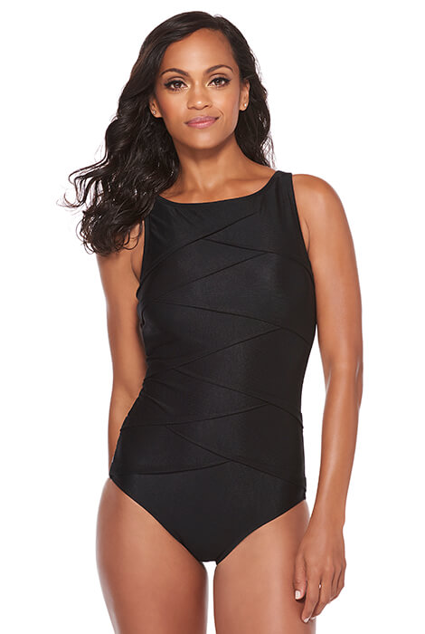 Active Spirit® Timeless Beauty Highneck Suit