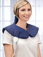 Hot & Cold Therapy - Plush Heating Pad Wrap for Shoulders & Neck