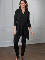Save $10 On Each - slimU™ Soft Shawl V Neck Knit Tunic Pant Set