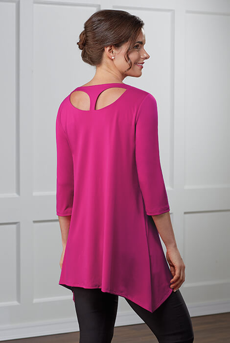 slimU™ Back Detail Tunic - View 1