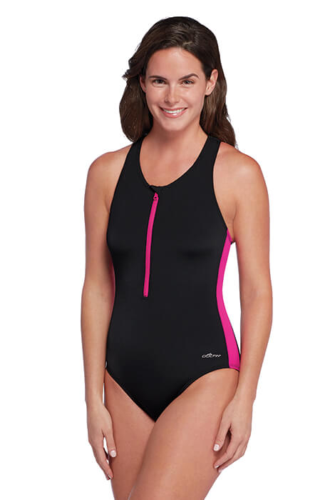 Aquashape® by Dolphin® One Piece Zip Front Lap Suit