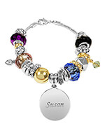 Jewelry & Jewelry Helpers - Personalized Two-Tone Multi Color Charm Bracelet