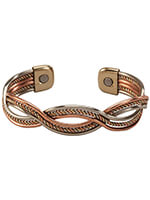 Jewelry & Jewelry Helpers - Magnetic Cuff Copper Braid Bracelet