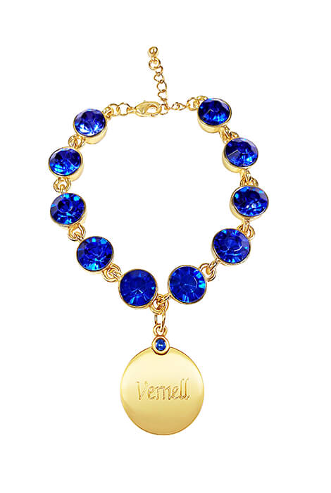 Personalized Birthstone Crystal Bracelet - View 1