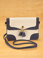 Handbags & Belts - Urban Energy™ Cross Body Bag With Tassels (taupe navy)