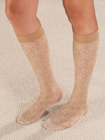 Socks and Hosiery - Celeste Stein Lace Compression Socks, 8-15 mmHg