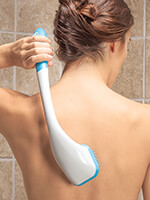 New - Long Reach Soft Silicone Bath Brush