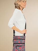 Travel Made Easy - Quilted Crossbody Bag with Umbrella