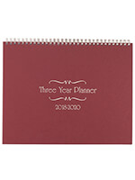 Household & Gifts - 3 Year Calendar Diary 2018-2020 Burgundy