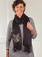 Hats, Scarves & Gloves - Pashmina Cat Scarf