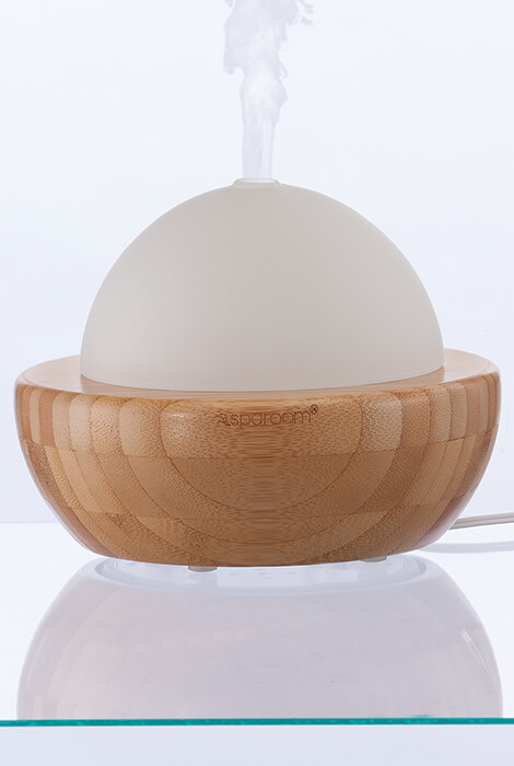 AromaGlobe Glass & Bamboo Essential Oil Diffuser