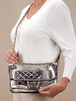 Handbags & Belts - Stadium Bag 2-Piece Metallic