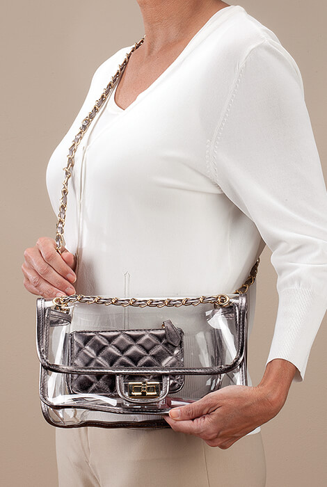 Stadium Bag 2-Piece Metallic