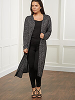 All New Loungewear - Carefree Threads Long Jersey Cardigan
