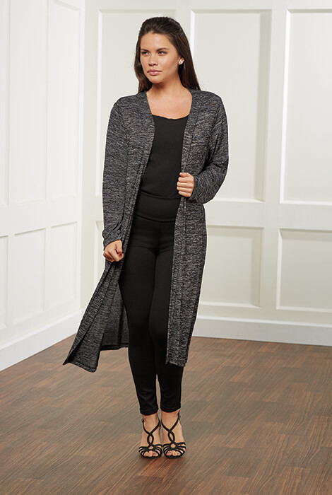 Carefree Threads Long Jersey Cardigan - View 1