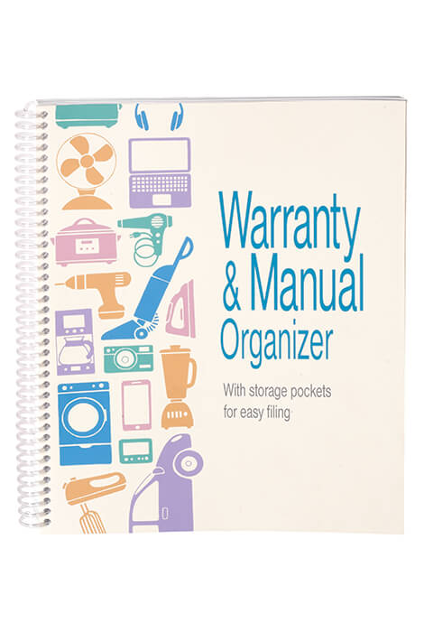 Warranty and Manual Organizer - View 1