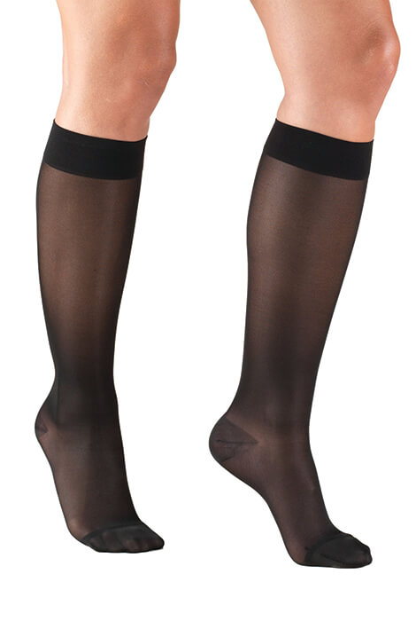 Silver Steps™ Sheer Compression Knee Highs, 15–20 mmHg