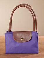 Handbags & Belts - Purple Foldable Tote