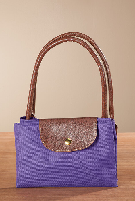 Purple Foldable Tote