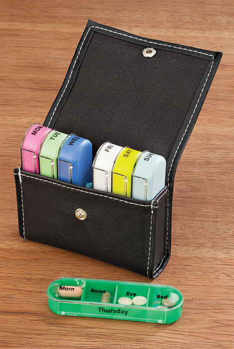 7-Day Pill Organizer with Case