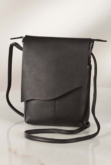 Leather Crossbody Bag - View 1
