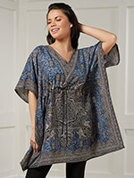 Tops & Dresses - Short Drawstring Caftan by Sawyer Creek Studio™