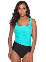 Fitness Swimwear - Active Spirit Viva Vortex Tank Mint Suit