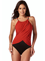 Magicsuit® - Magic Suit Solid 19 Lisa Rouge Black/Red