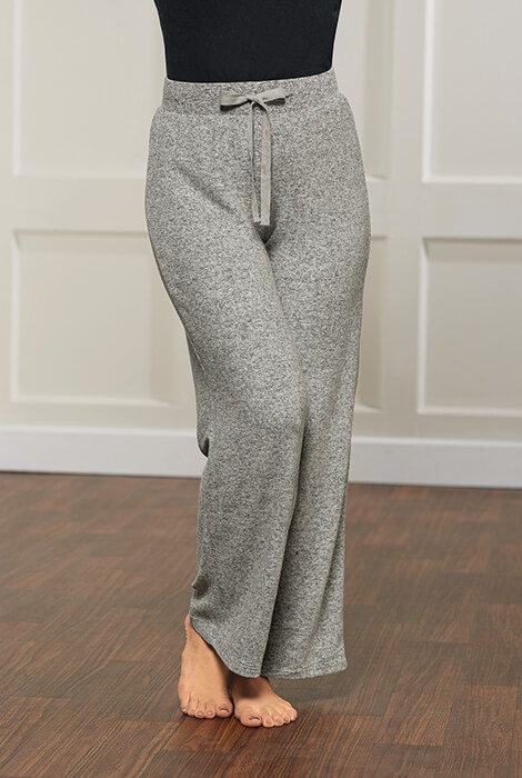 La Cera Cozy Knit Wide Leg Pant