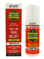 Medicines & Treatments - Uncle Bud's Pain Relieving Roll-On with Pure Hemp Seed Oil