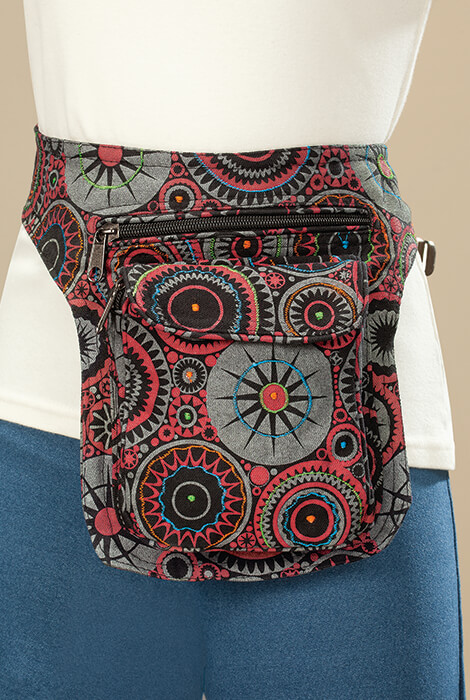 Vertical Cotton Fanny Pack - View 1